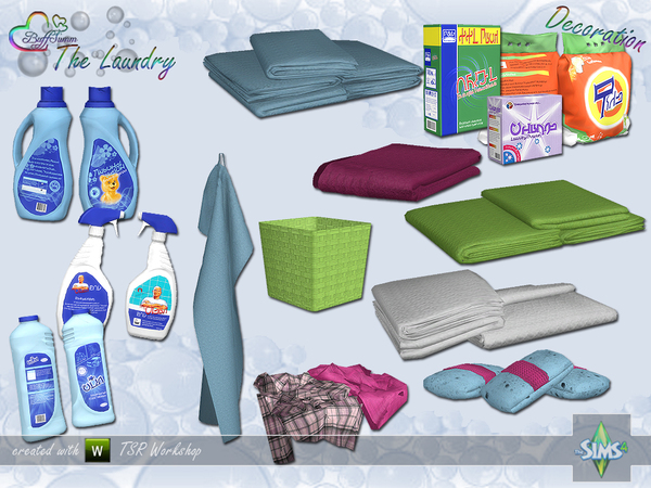 Sims 4 The Laundry Decoration by BuffSumm at TSR