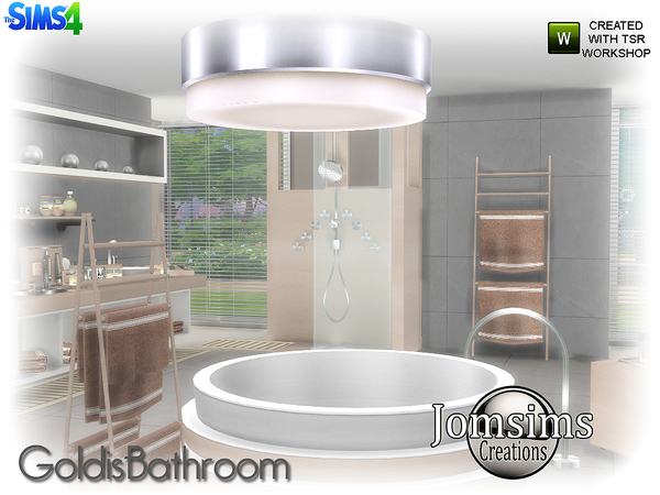 Goldis bathroom by jomsims at TSR image 2116 Sims 4 Updates