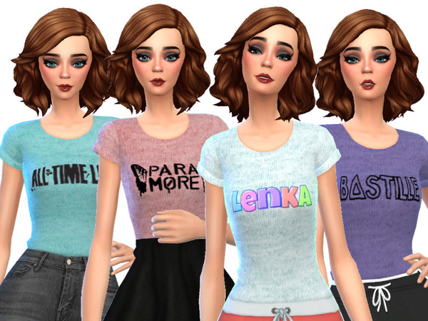 Band Tee Shirts Pack Three by Wicked Kittie at TSR image 2119 Sims 4 Updates