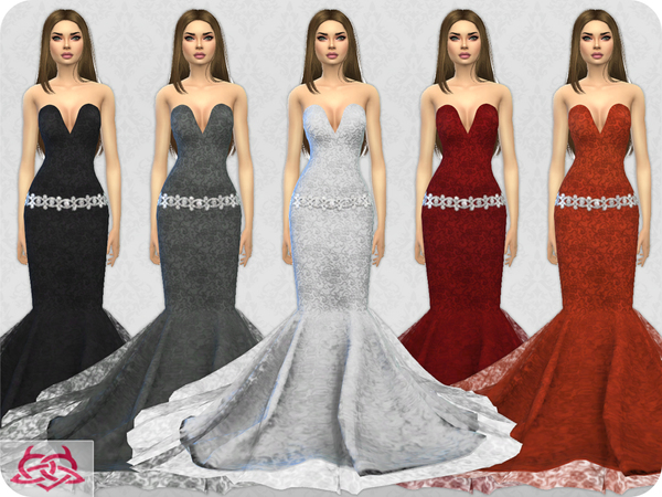 Wedding Dress 8 RECOLOR 4 by Colores Urbanos at TSR image 2124 Sims 4 Updates