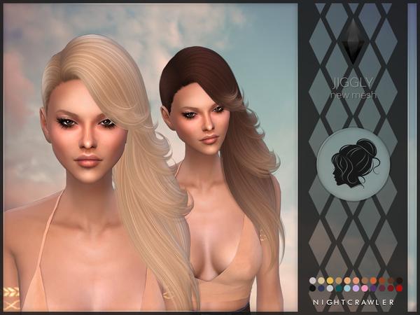 Sims 4 Jiggly hair by Nightcrawler at TSR