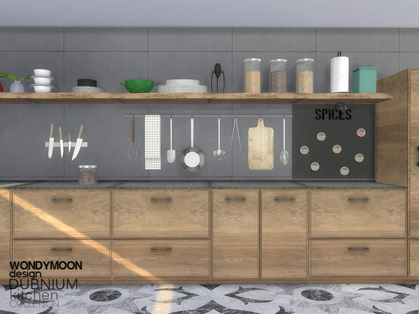 Sims 4 Dubnium Kitchen Decorations by wondymoon at TSR