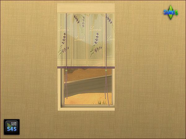 Sims 4 8 kitchen curtains in 2 sizes by Mabra at Arte Della Vita