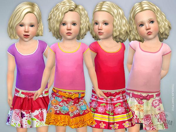 Toddler Skirt P02 by lillka at TSR image 2215 Sims 4 Updates