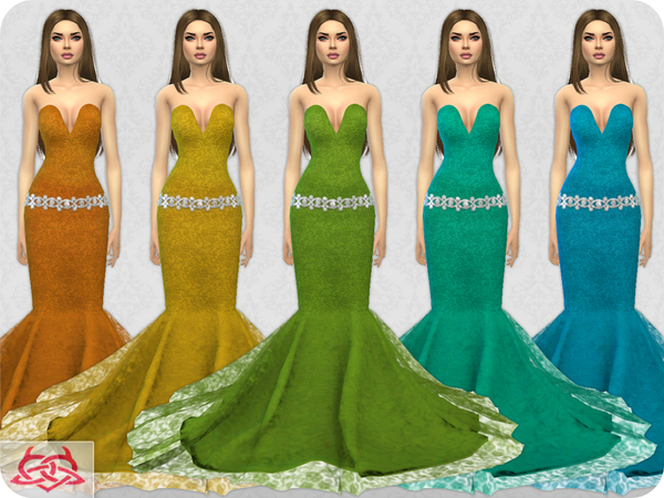 Wedding Dress 8 RECOLOR 4 by Colores Urbanos at TSR image 2222 Sims 4 Updates