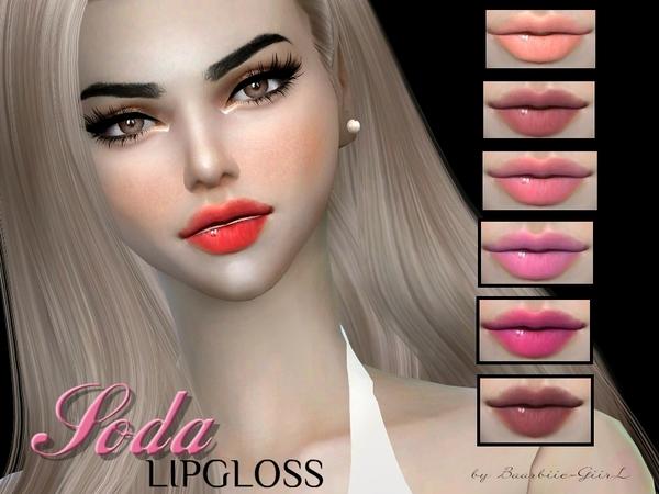 Sims 4 Soda Lipgloss by Baarbiie GiirL at TSR