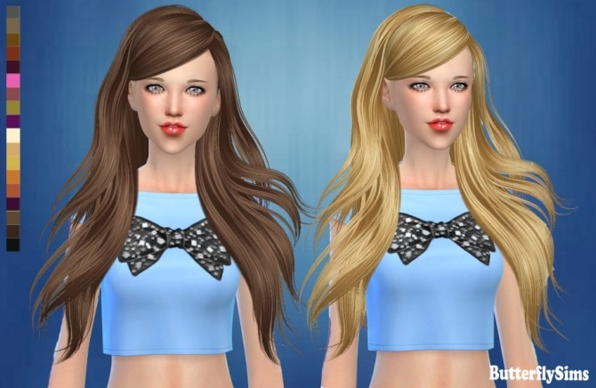 Sims 4 Hair af 181 No hat by YOYO at Butterfly Sims