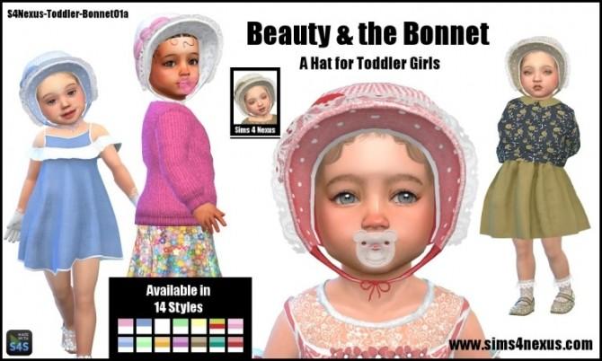 Sims 4 Beauty & the Bonnet by SamanthaGump at Sims 4 Nexus