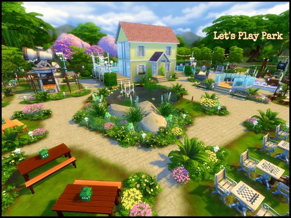 Sims 4 Lets Play Park by sparky at TSR