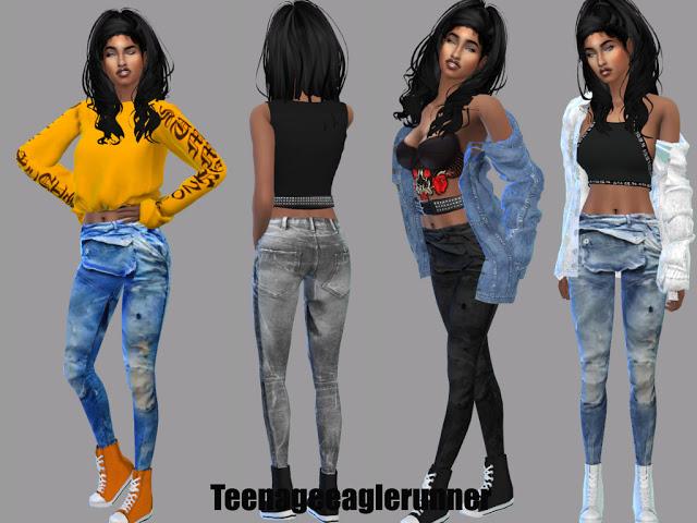 Sims 4 Elwood Pants at Teenageeaglerunner