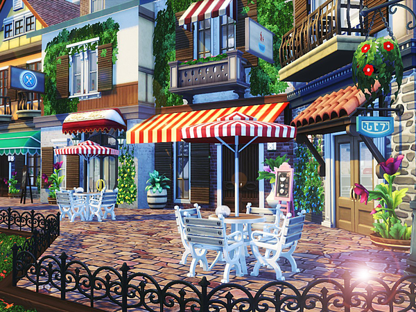 Sims 4 Venice Restaurant by MychQQQ at TSR