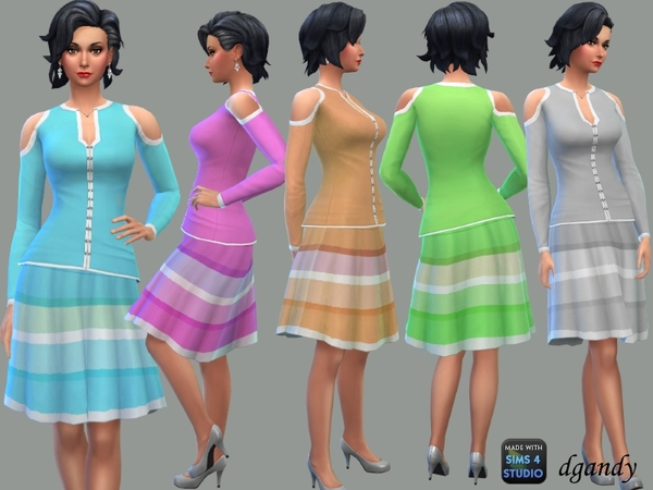 Sims 4 Rainbow Set by dgandy at TSR