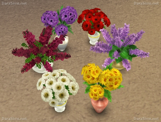 Sims 4 Flower Set 2 at Dara Sims