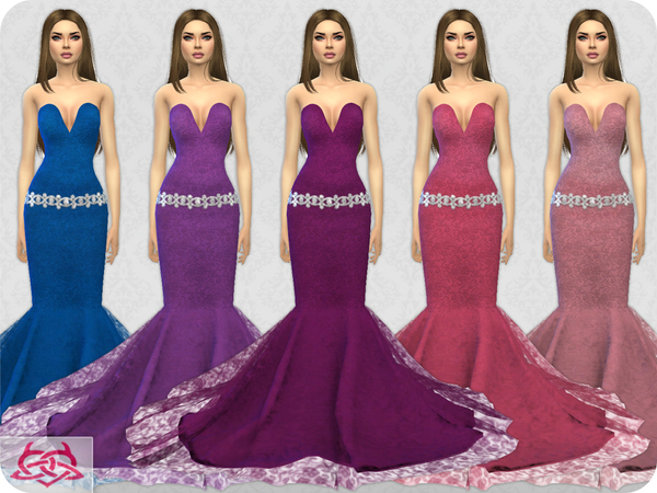 Wedding Dress 8 RECOLOR 4 by Colores Urbanos at TSR image 2323 Sims 4 Updates