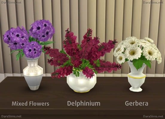 Flower Set 2 at Dara Sims image 2332 Sims 4 Updates