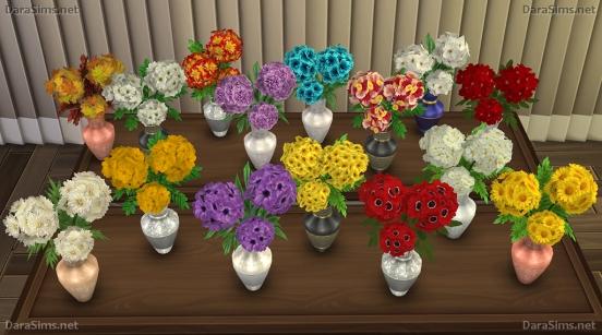 Flower Set 2 at Dara Sims image 2342 Sims 4 Updates