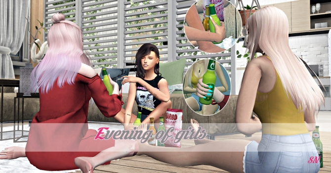 Evening Of Girls Posepack At Simsnema 187 Sims 4 Updates