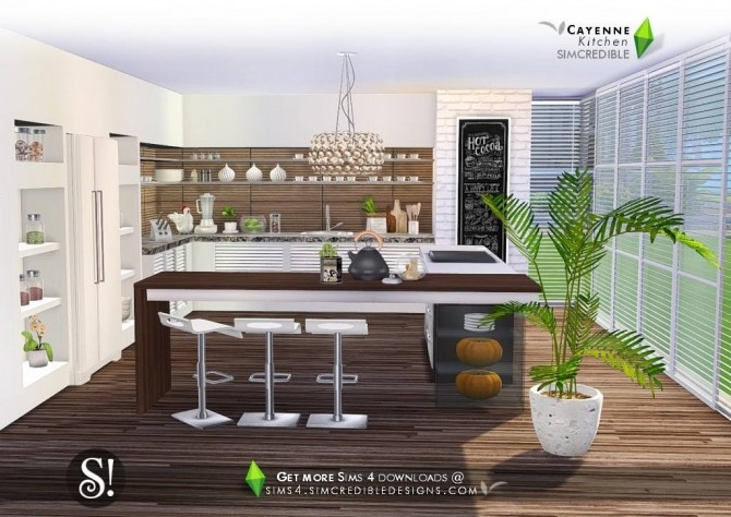 Cayenne kitchen at SIMcredible! Designs 4 image 2382 670x474 Sims 4 Updates