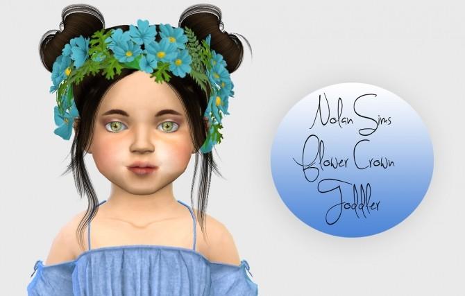 Nolan Sims Flower Crown Toddler Version at Simiracle image 2393 670x427 Sims 4 Updates