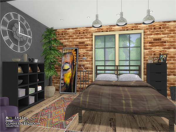 Gunnern Bedroom by ArtVitalex at TSR image 240 Sims 4 Updates