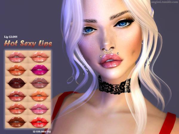 Sims 4 Lip GLOSS by ANGISSI at TSR