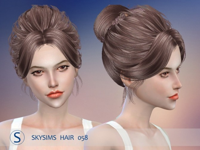 Hair 058 by Skysims (Pay) at Butterfly Sims image 2424 670x503 Sims 4 Updates