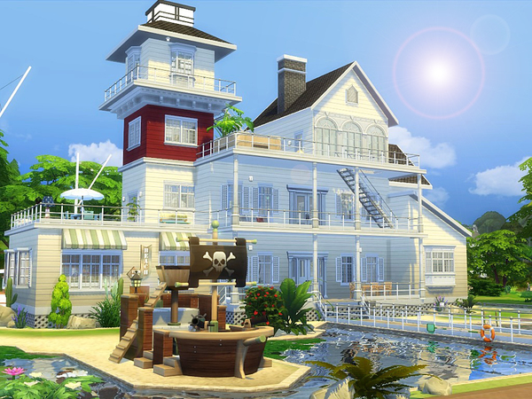 Sims 4 Sandy Valley house by MychQQQ at TSR
