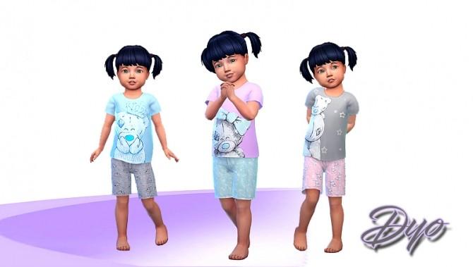 Sims 4 Girl pajama by Dyokabb at Les Sims4