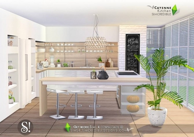 Cayenne kitchen at SIMcredible! Designs 4 image 2432 670x474 Sims 4 Updates