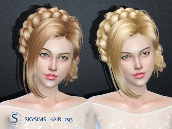 Hair 293 by Skysims (Free) at Butterfly Sims image 2433 670x503 Sims 4 Updates
