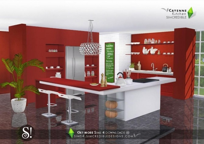 Cayenne kitchen at SIMcredible! Designs 4 image 2442 670x474 Sims 4 Updates