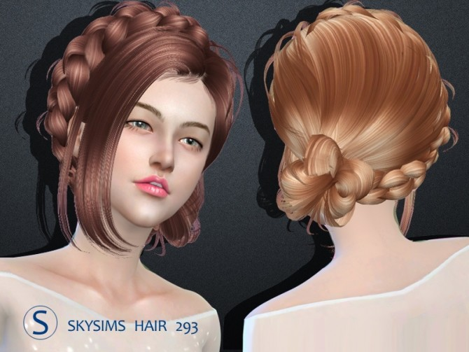 Hair 293 by Skysims (Free) at Butterfly Sims image 2443 670x503 Sims 4 Updates