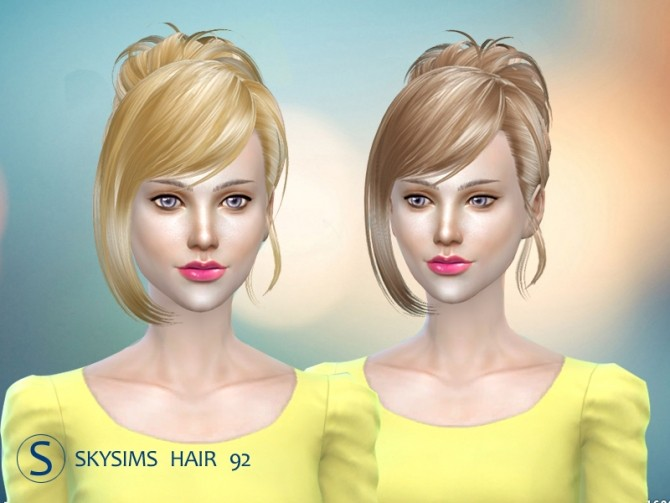 Hair 092 (free) by Skysims at Butterfly Sims image 2461 670x503 Sims 4 Updates