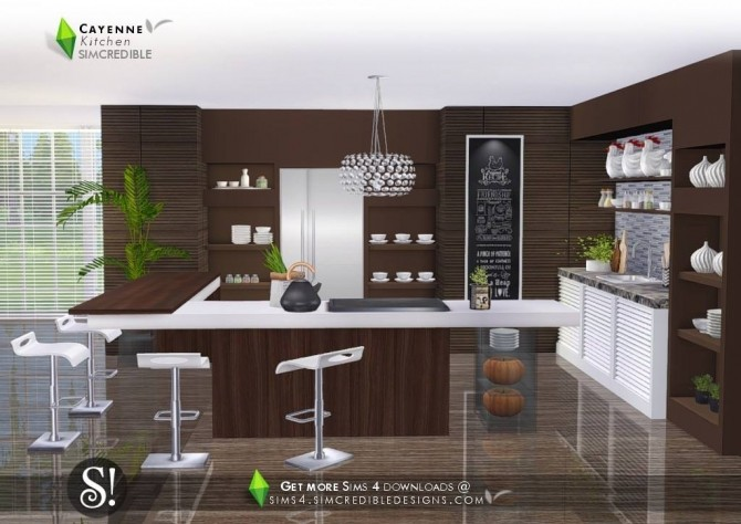 4 Brilliant Kitchen Remodel Ideas: Cayenne Kitchen At SIMcredible! Designs 4 » Sims 4 Updates