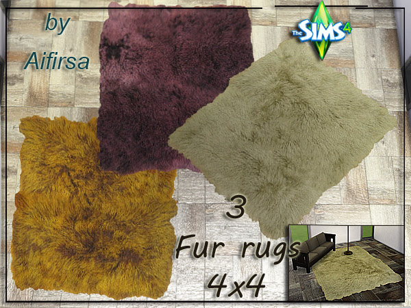 3 Fur rugs at Aifirsa image 2474 Sims 4 Updates