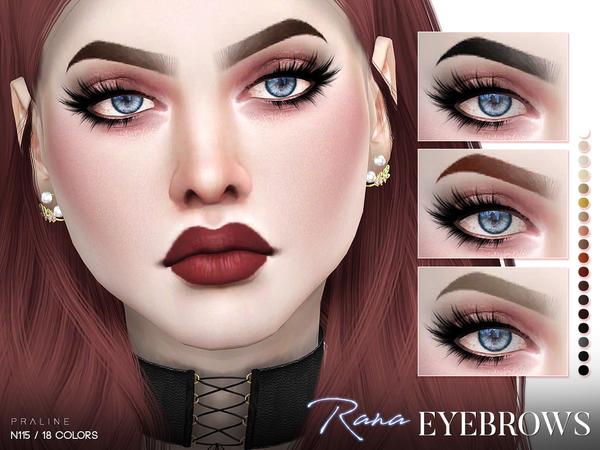 Sims 4 Rana Eyebrows N115 by Pralinesims at TSR
