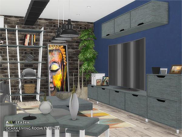 Ocarx Living Room TV Units by ArtVitalex at TSR image 2513 Sims 4 Updates