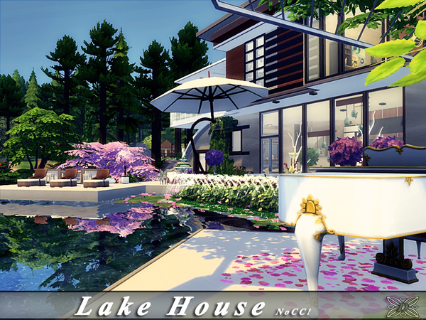 Sims 4 Lake House by Danuta720 at TSR