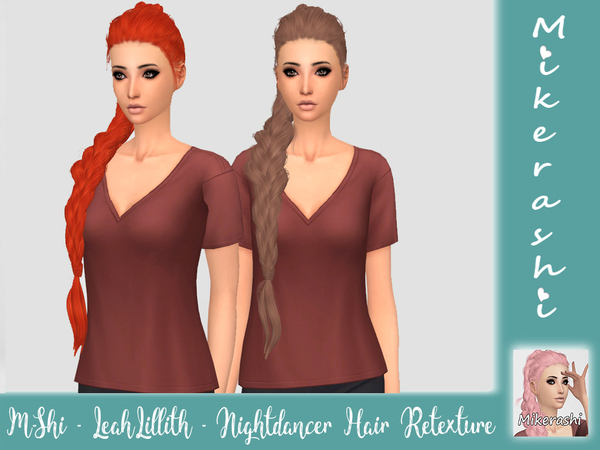 LeahLillith Nightdancer Hair Retexture by mikerashi at TSR image 2519 Sims 4 Updates