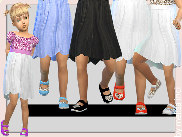 Toddler Sequin Detail Shoes by melisa inci at TSR image 2529 Sims 4 Updates