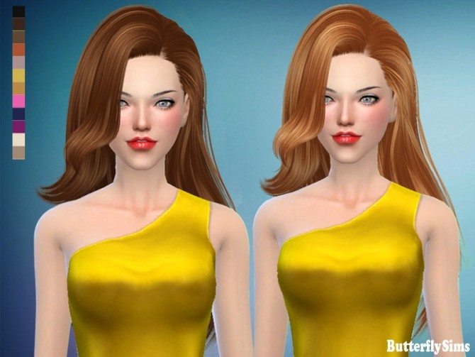 Hair 171 No hat (free) by YOYO at Butterfly Sims image 2561 670x503 Sims 4 Updates