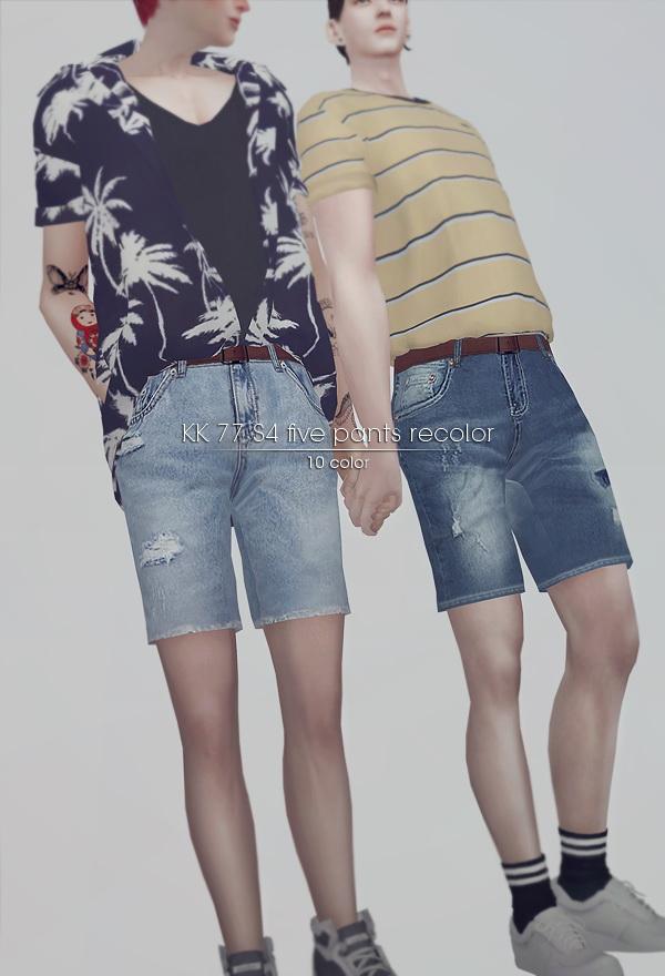 Sims 4 Summer set 02 for male at KK's Sims4 – ooobsooo