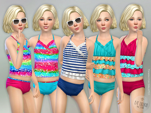 Sims 4 Tankini P01 for Girls by lillka at TSR