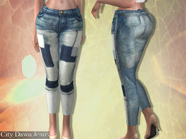 City Dawn Jeans by Genius666 at TSR image 2614 Sims 4 Updates