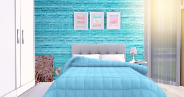 Blue Girl bedroom at Mony Sims image 2652 Sims 4 Updates