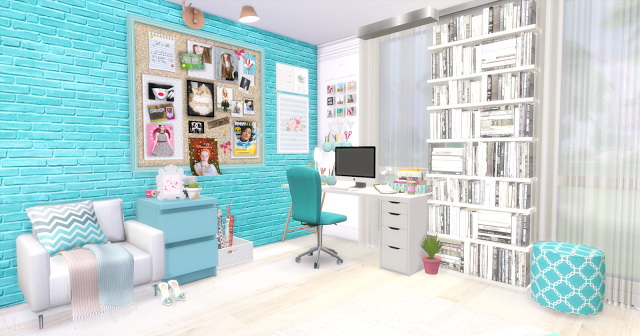 Blue Girl bedroom at Mony Sims image 2672 Sims 4 Updates