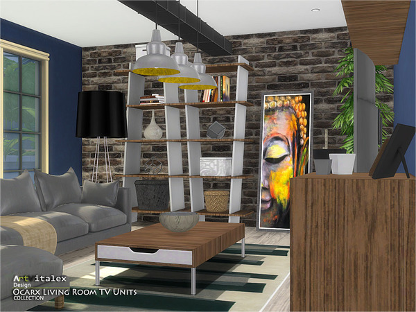 Ocarx Living Room TV Units by ArtVitalex at TSR image 2712 Sims 4 Updates
