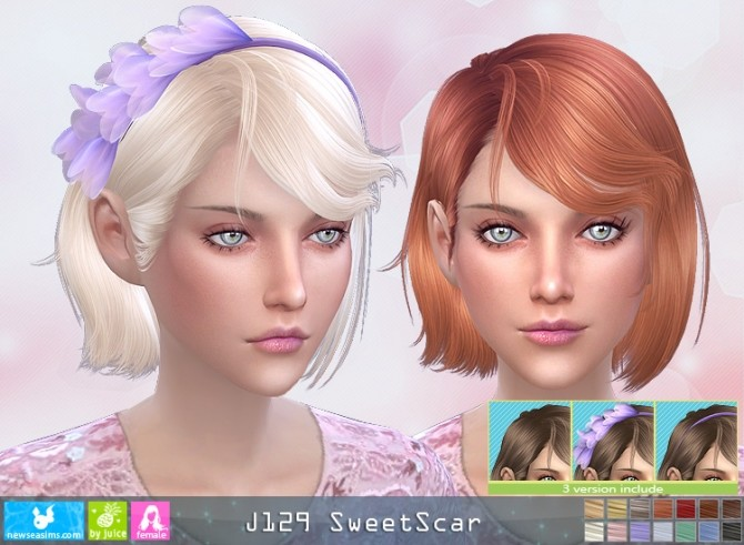 J129 SweetScar hair (Pay) at Newsea Sims 4 image 2762 670x491 Sims 4 Updates