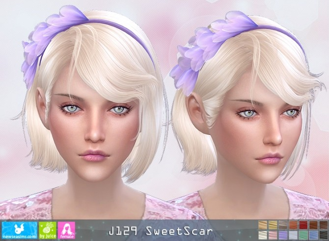 J129 SweetScar hair (Pay) at Newsea Sims 4 image 2772 670x491 Sims 4 Updates