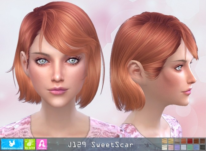 J129 SweetScar hair (Pay) at Newsea Sims 4 image 2782 670x491 Sims 4 Updates